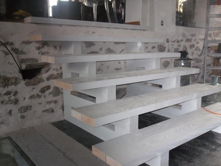escalier bois sans contre marche escaliers. Black Bedroom Furniture Sets. Home Design Ideas